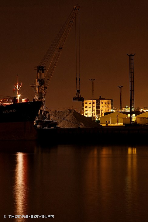 Port de Rouen by night by T.Boivin (1)
